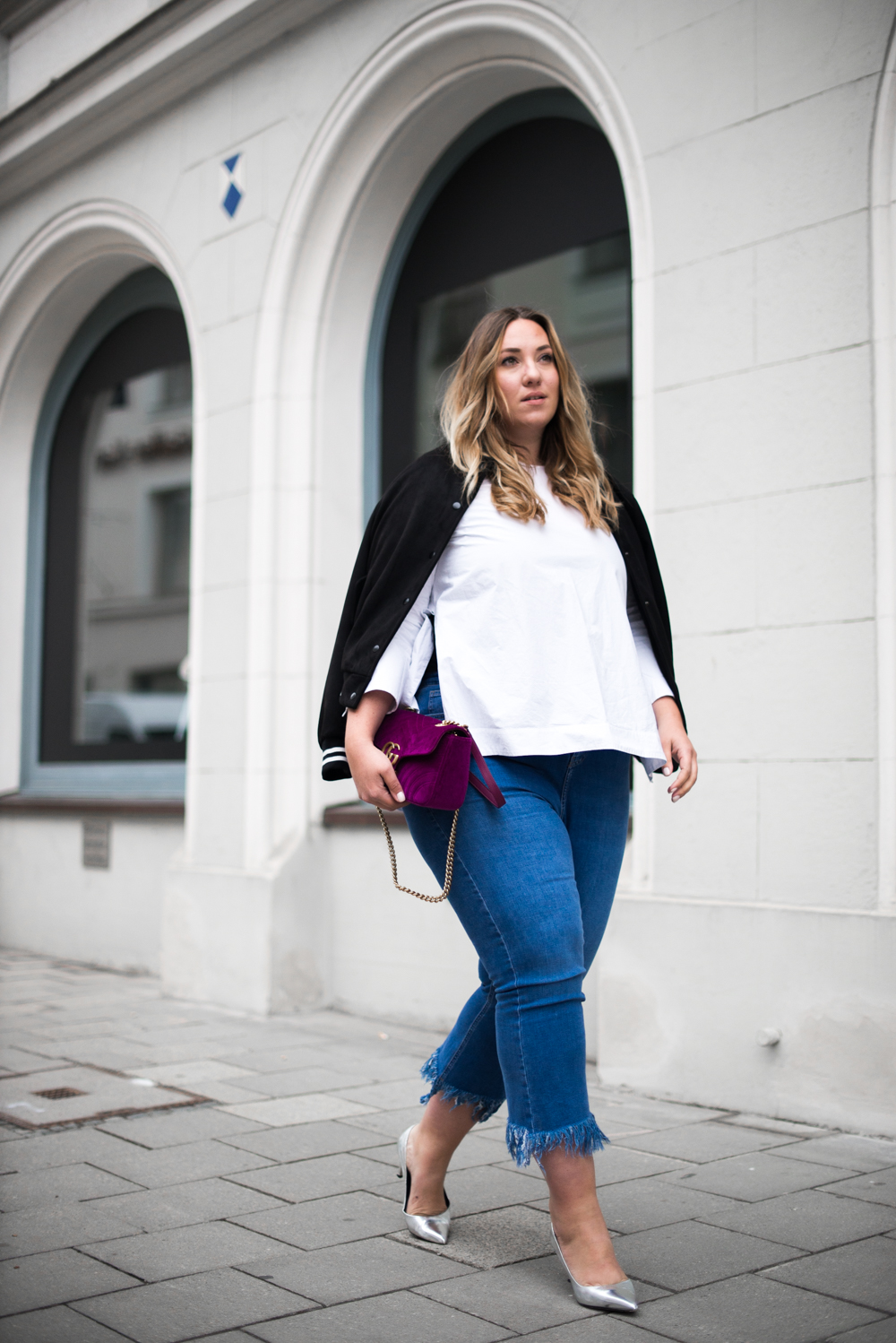 Gucci_The Skinny and the Curvy One_Ms wunderbar_Plus Size Blogger_curve blog_Fashionblog Deutschland_Plus Size Fashion Deutschland_College Jacke_Fringe Jeans (2 von 15)