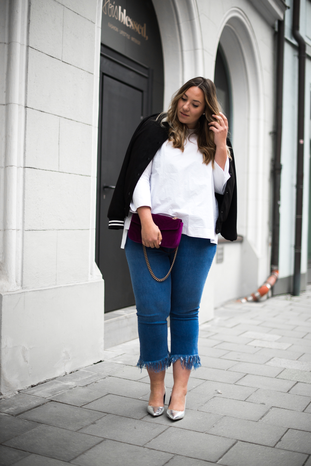 Gucci_The Skinny and the Curvy One_Ms wunderbar_Plus Size Blogger_curve blog_Fashionblog Deutschland_Plus Size Fashion Deutschland_College Jacke_Fringe Jeans (5 von 15)